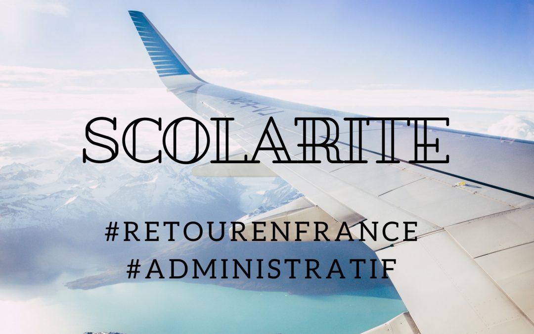 Retour en France et scolarité des enfants