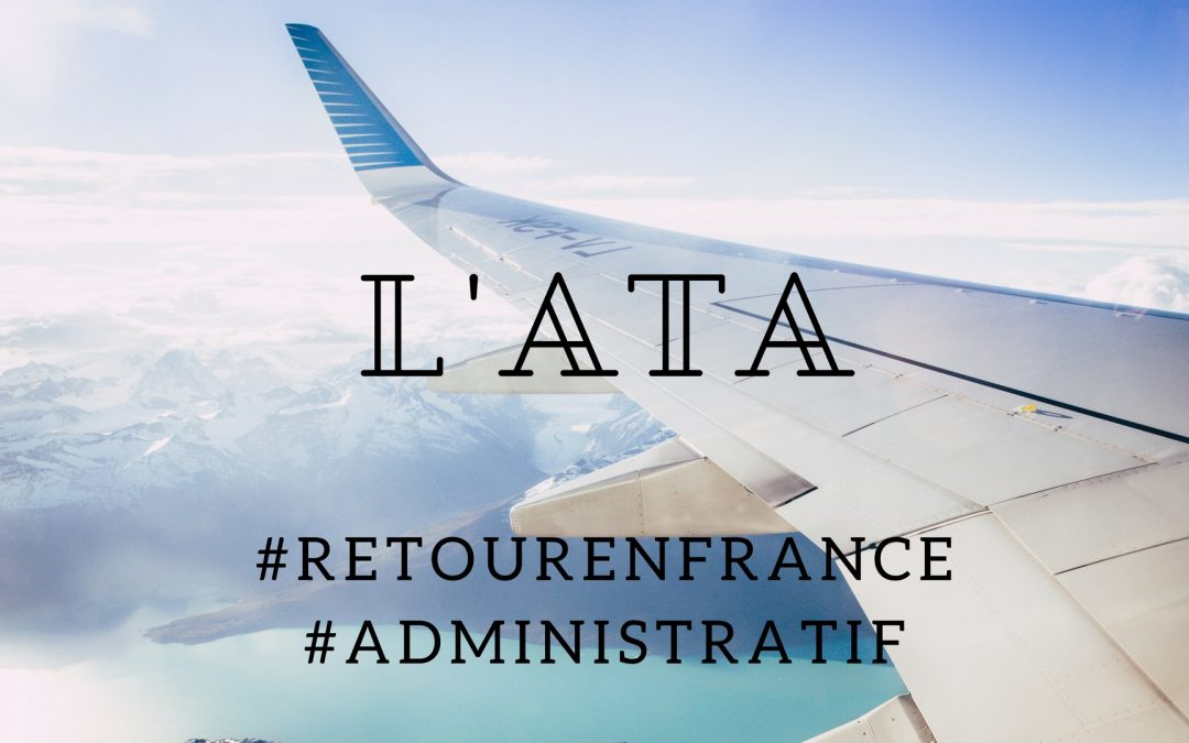 Suppression de l'ATA au 1er Septembre 2017